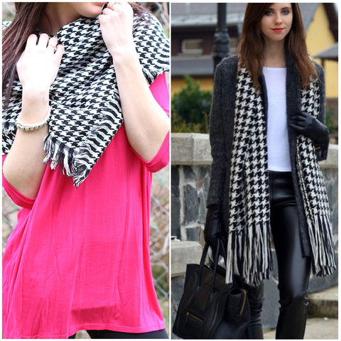 Black And White Houndstooth