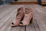 Taupe Sarah Bootie - Bloom and Snow Boutique