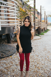 Fall For Me Jeggings WINE - Bloom and Snow Boutique