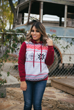 Christmas Print Hoodie - Bloom and Snow Boutique
