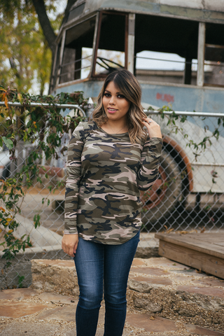Camo Chic Top - Long Sleeve