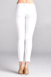 White Destressed Skinny Jeans - Bloom and Snow Boutique