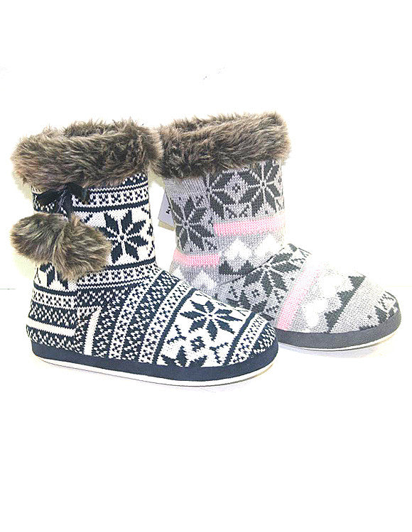 Snowflake Slippers - Bloom and Snow Boutique