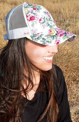 White Rose Hat - Bloom and Snow Boutique