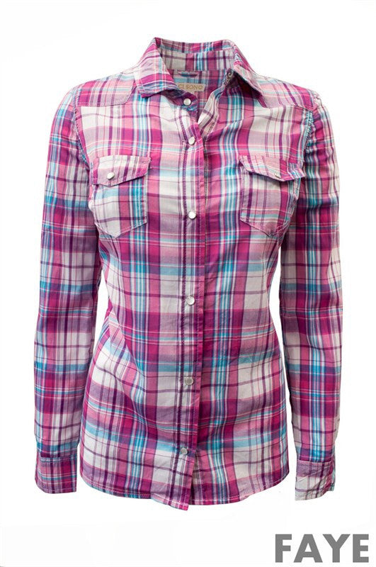 Faye Flannel Shirt - Bloom and Snow Boutique