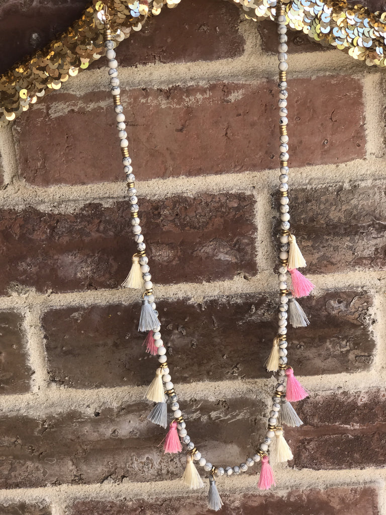 Blush/Grey Tassel - Bloom and Snow Boutique