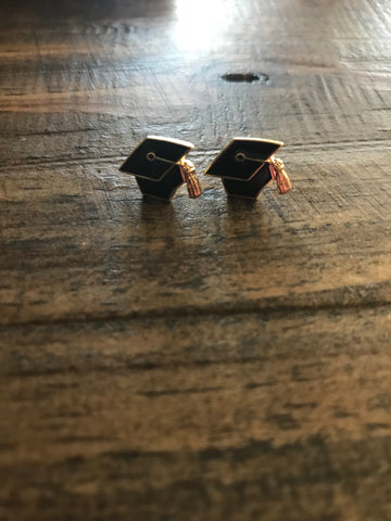 Graduation Cap Earring