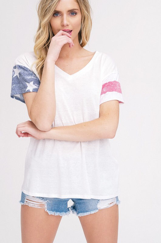 American Flag Tee - Bloom and Snow Boutique