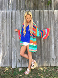 Breeze Me Kimono - Serape Party Print - Bloom and Snow Boutique