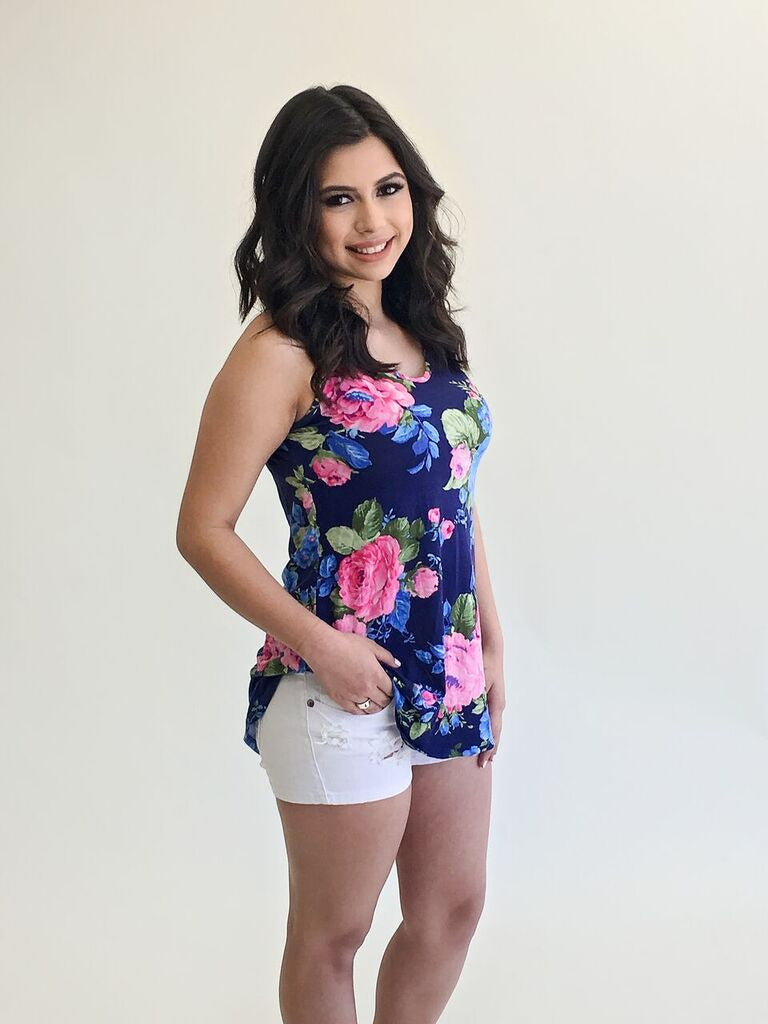 Floral Tank - Bloom and Snow Boutique