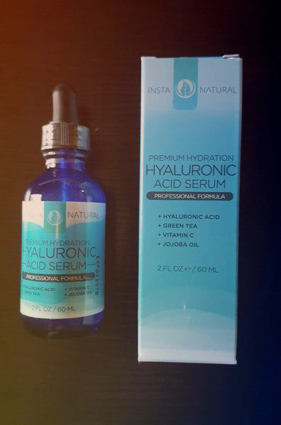 InstaNatural Hyaluronic Acid & Vitamin C, Vitamin E & Green Tea Serum for Face