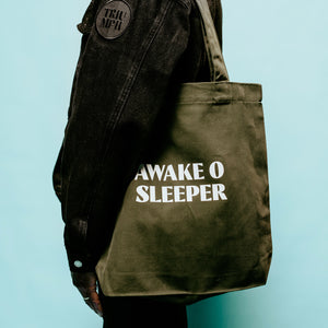 """Awake O Sleeper"" Tote Bag"