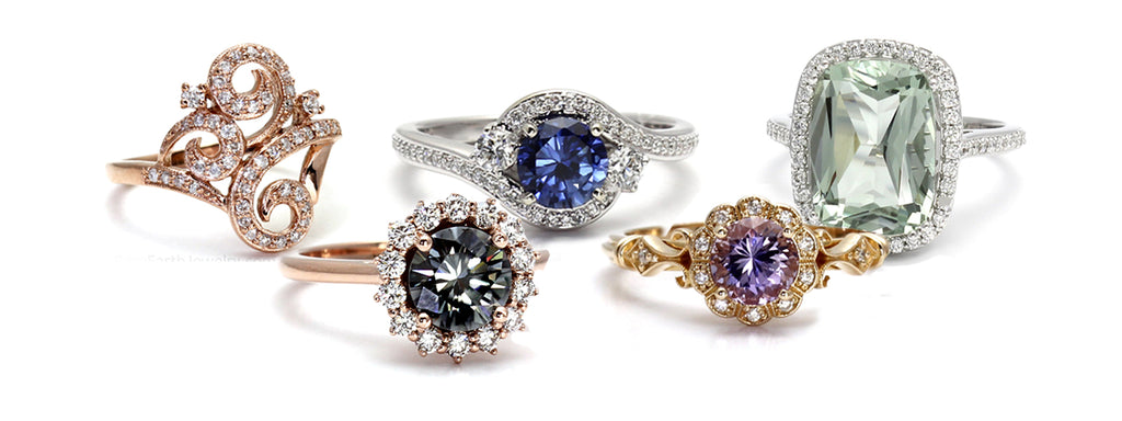 Custom Engagement Rings by Rare Earth Jewelry