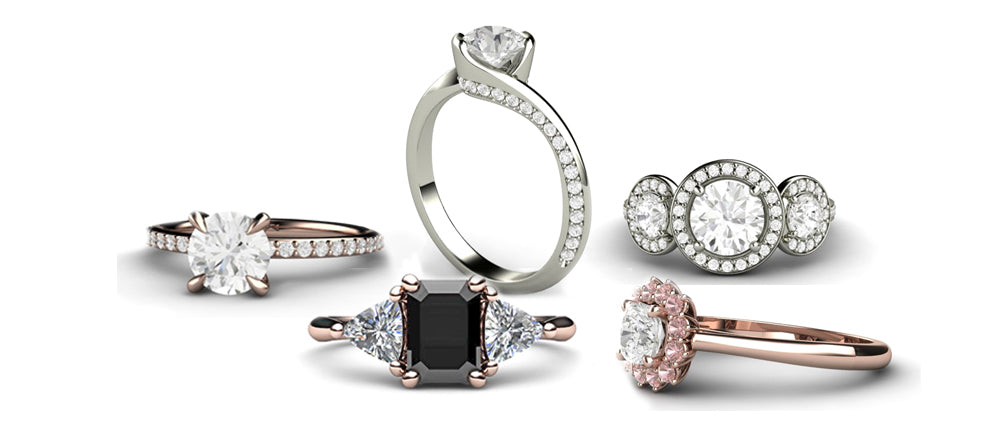 Diamond Engagement Rings by Rare Earth Jewelry