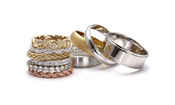 Wedding Rings and Eternity Bands by Rare Earth Jewelry