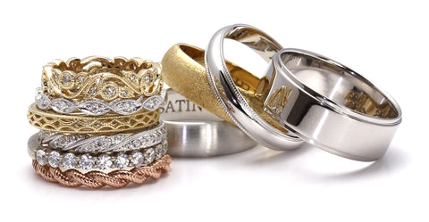 Classic wedding rings and bands