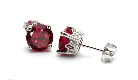 Ruby Stud Earrings by Rare Earth Jewelry