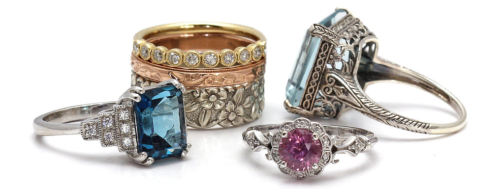 Vintage and Antique Rings from Rare Earth Jewelry