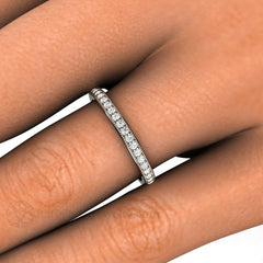 Milgrain Diamond Wedding Ring or Anniversary Band