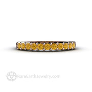 14K Rose Gold Yellow Diamond Anniversary Stacking Band – Rare Earth Jewelry