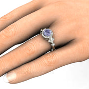 Natural Color Change Sapphire Right Hand Ring on Finger Rare Earth Jewelry