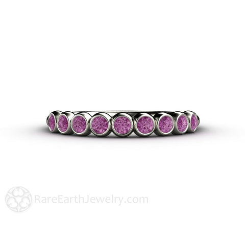 Purple Bubbles Diamond Wedding Ring Anniversary Band Stacking Ring