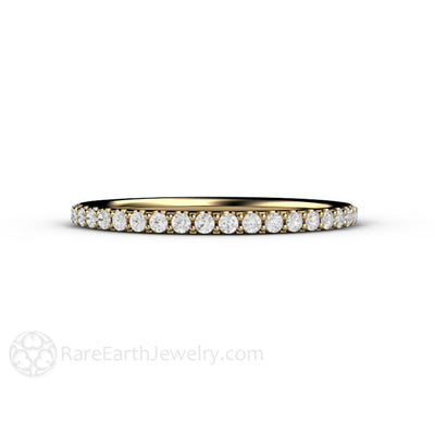 Rare Earth Jewelry Petite Diamond Wedding Ring or Anniversary Band Stackable
