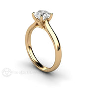 Rare Earth Jewelry 14K Round Cut Diamond Solitaire Wedding Anniversary Ring GIA