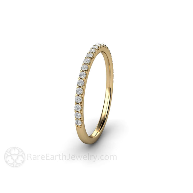 14K Round Cut Diamond Stacking Ring Rare Earth Jewelry
