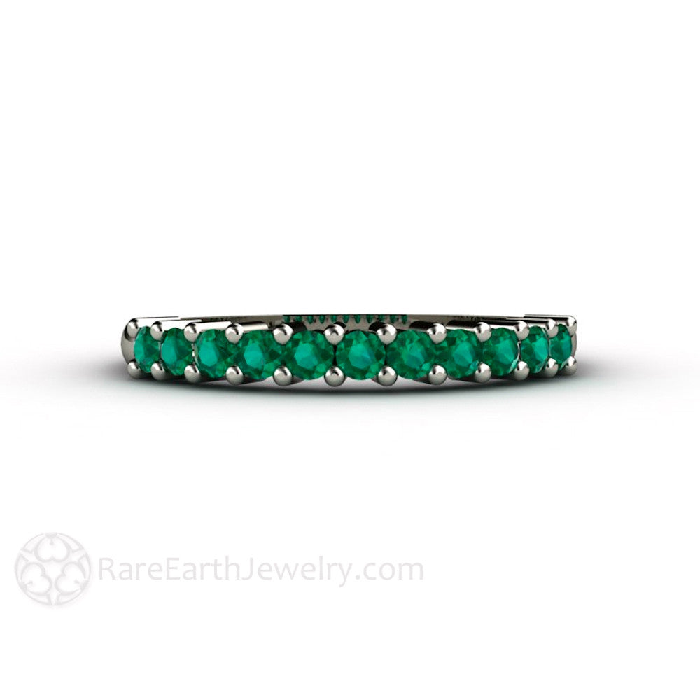 stackable white rings pid emerald ct anniversary gemstone band ring eternity in bands semi gold