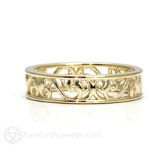 Rare Earth Jewelry 14K Yellow Gold Vintage Style Stacking Ring 5mm