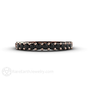 Rare Earth Jewelry Black Diamond Anniversary Band Stacking Ring
