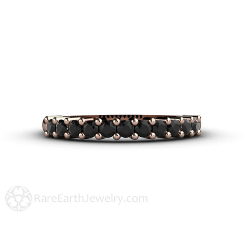 Black Diamond Anniversary Band or Stacking Ring
