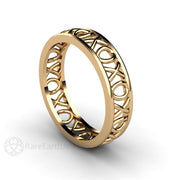 Rare Earth Jewelry Gold Anniversary or Promise Ring XO Hugs and Kisses Design