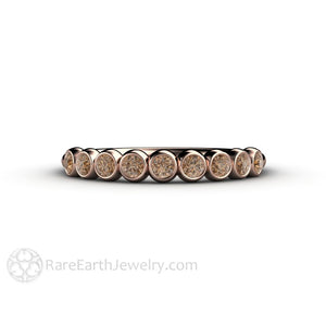 Cognac Brown Diamond Wedding Ring Anniversary Band