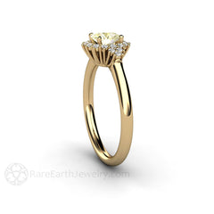 14K Yellow Gold Diamond and Sapphire Ring Rare Earth Jewelry