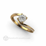 Ethical Lab Grown Diamond Engagement Ring Solitaire in 14K Yellow Gold by Rare Earth Jewelry