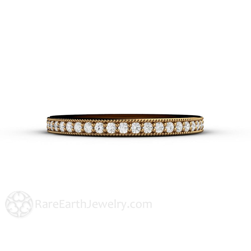 white milgrain gold diamond promise ring bubbles