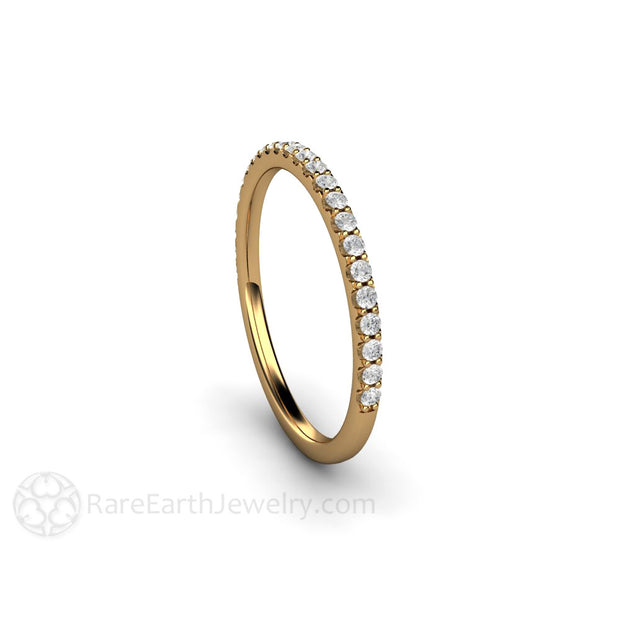 18K Yellow Gold Diamond Bridal Stacking Ring Rare Earth Jewelry