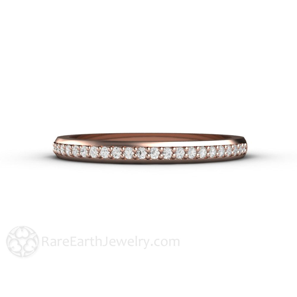 Rare Earth Jewelry 14K Rose Gold Diamond Wedding Ring