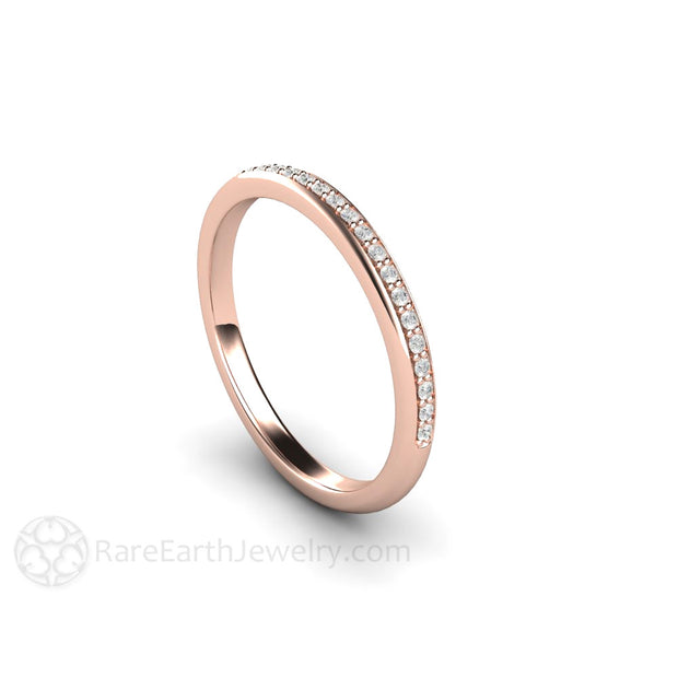 Rare Earth Jewelry Rose Gold Diamond Anniversary Band Stackable