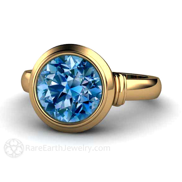 18K Gold Blue Spinel Cocktail or Right Hand Ring