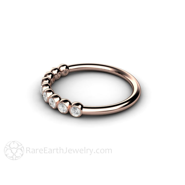 14K Rose Gold Diamond Ring Rare Earth Jewelry