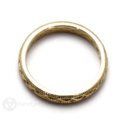 14K Gold Filigree with Milgrain 3mm Band