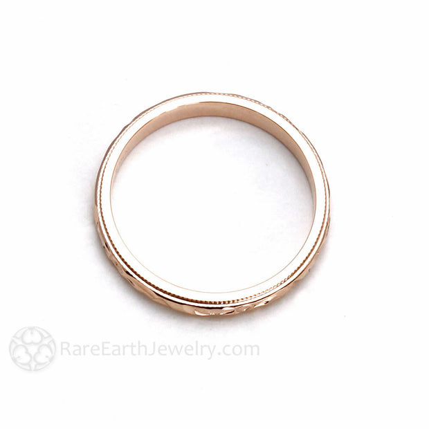3MM Rose Gold Band Rare Earth Jewelry