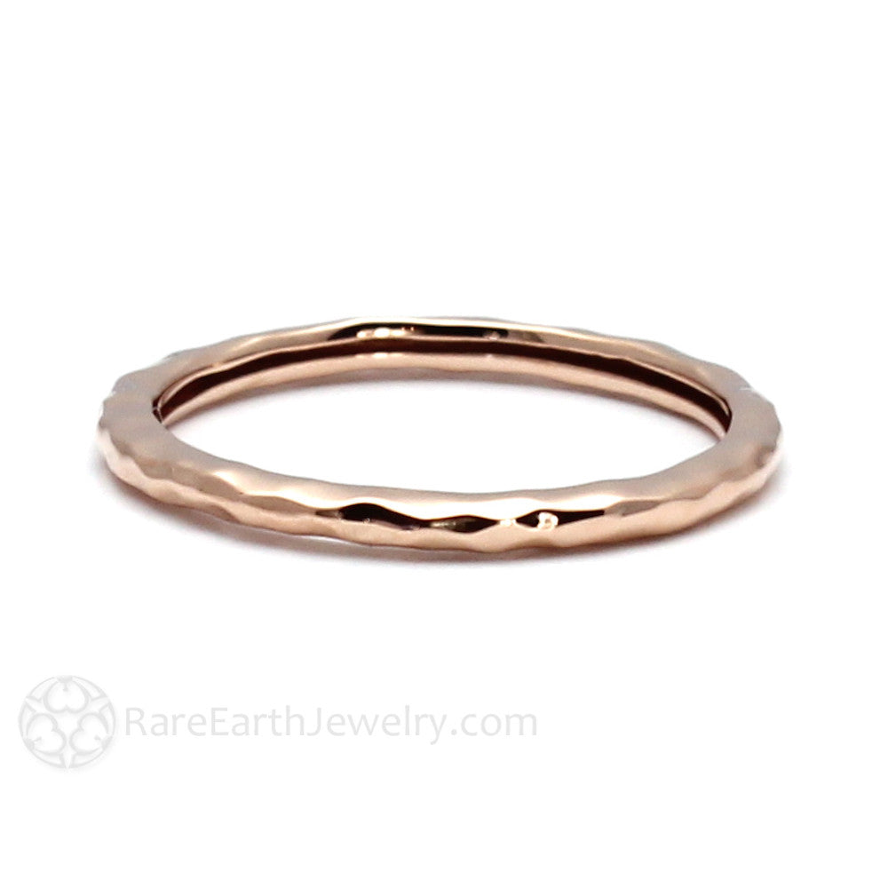 Rare Earth Jewelry 14K Rose Gold Stackable Band Stacking Ring