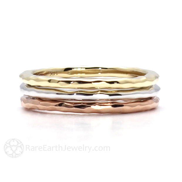 Rare Earth Jewelry Gold Wedding Anniversary Bands Stacking Ring