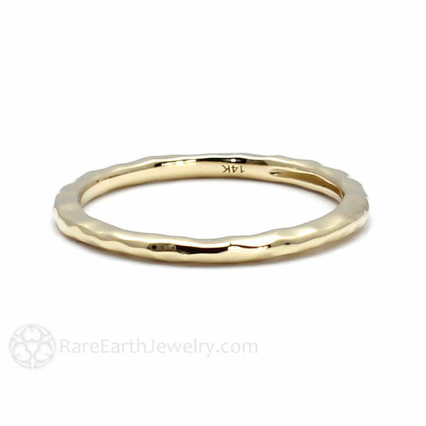 14K Yellow Gold Stackable Wedding Band or Bridal Ring Rare Earth Jewelry