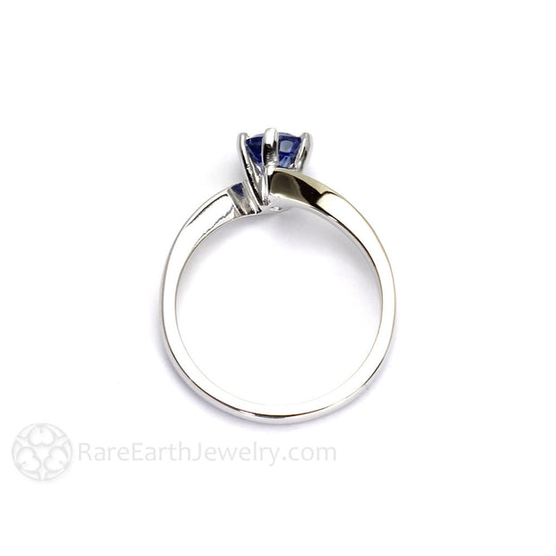 Round Cut Natural Blue Sapphire Ring 6 Prong Solitaire Setting Rare Earth Jewelry