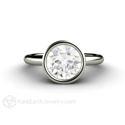 8mm Charles and colvard Forever One Moissanite Engagement Ring Custom Diamond Alternative Engagements by Rare Earth Jewelry